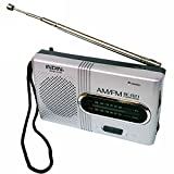 Regard BC-R21 Mini-Radio tragbare AM FM Teleskopantenne Pocket Radio Weltempfänger Lautsprecher Batteriebetrieben