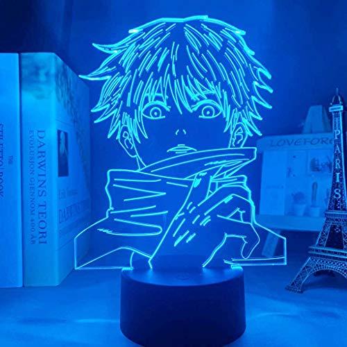 Creative Anime - Luce notturna da tavolo, lampada LED 16 colori, giochi Satoru Gojo, set giapponese anime illuminazione decorativa per bambini, senza copertura, motivo: gatto