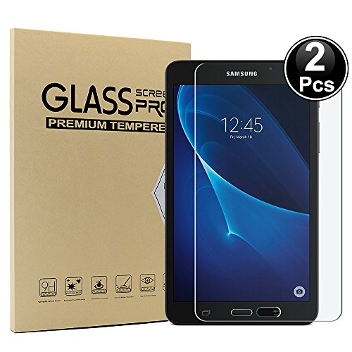 Ash-case [2-pack] Compatibel met Samsung Tablet Tab A 8.0 2017 - Gehard glazen schermbeschermer - [3D-ronde rand] [9H-hardheid] [Kristalhelder] [Krasbestendig], Helder