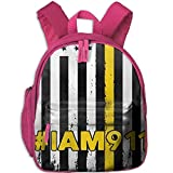 Yuanmeiju Bandera Americana 911 Mochilas Escolares para Estudiantes Pies Super Bookbag