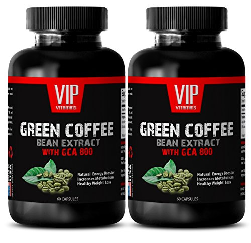 Weight Loss Supplements for Men Best - Green Coffee Bean Extract (with GCA 800) - Green Coffee Bean Pills - 2 Bottles 120 Capsules