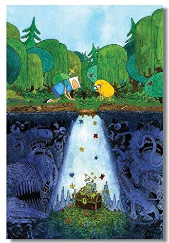 AJleil Puzzle 1000 Piezas Hora de Aventura Finn clásico Dibujos Animados Puzzle 1000 Piezas educa Rompecabezas de Juguete de descompresión Intelectual Educativo dive50x75cm(20x30inch)