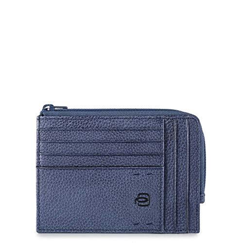 Piquadro Pulse Plus Portafoglio da Viaggio, 12 cm, Blu Notte