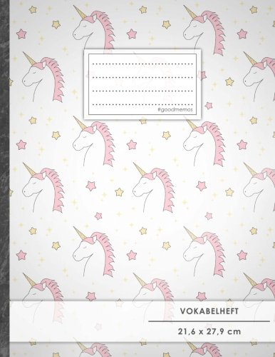 VOKABELHEFT DIN A4 • 50+ Seiten, Softcover, Register, Zweispaltig, Erfolgs-Tacker,