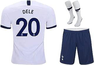 ZXAOYUAN 2019-2020 Tottenham Hotspur DELE Alli #20 Kids/Youths Home Soccer Jersey & Short & Socks Kit White