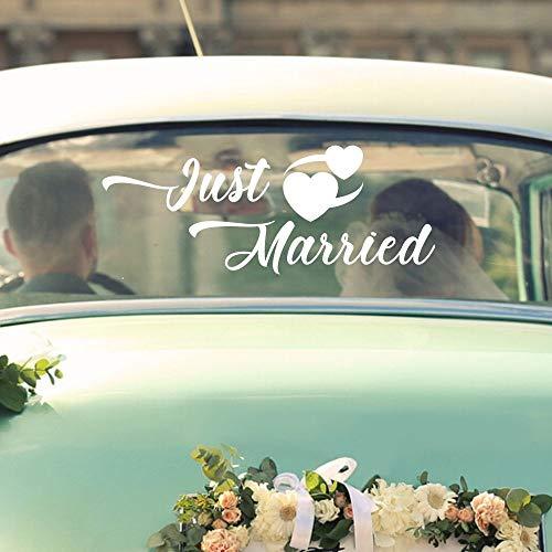 yaonuli Removable Car Wedding Design Wedding Stickers Just Married 57x30cm