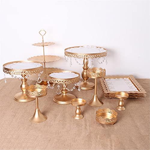 Lzcaure Soporte para magdalenas 12 piezas vintage cristal pastel titular Cupcake giratorio pastel soporte postre plato exhibición fiesta para boda cumpleaños fiesta