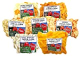 Wisconsin Cheese Company, Wisconsin Classic Cheese Curd Sampler - Mixed, Garlic Dill, Jalapeno, Yellow, Buffalo Wing, Pizza and Hickory Hollow (Smoked) Cheese Curds, 100% Wisconsin Cheese Curd Gift, Cheese Gift, Best Holiday Cheese Gift Idea.