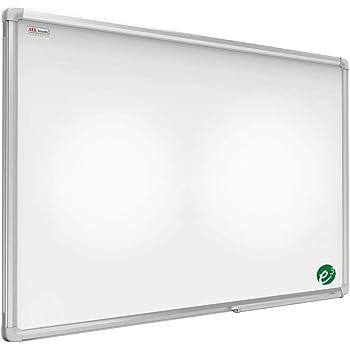 Superficie Laccata Vassoio Portapennarelli Diverse Dimensioni ALLboards Lavagna Bianca Magnetica Cancellabile a Secco Cornice in Alluminio Anodizzato