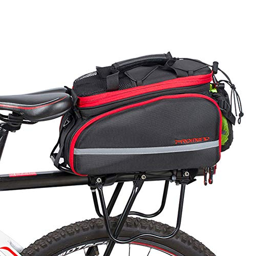 Biking Waterproof Bike Pannier, 10-35L Multi-function Large Capacity Bicycle Rear Seat Trunk Bag Backpack Compatible, Cycling Luggage Rack Package With Rainproof Cover-black