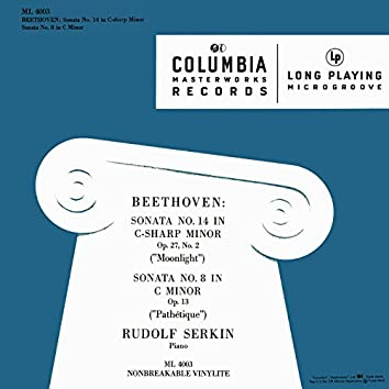 "Beethoven: Piano Sonata No. 14, Op. 27 No. 2 ""Moonlight"" & Piano Sonata No. 8, Op. 13 ""Pathétique"""