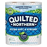 Quilted Northern Ultra Soft and Strong Earth-Friendly Toilet Paper, 6 Mega Rolls = 24 Regular Rolls, 328 2-Ply...