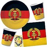 HHO Nostalgie Ostalgie DDR Party-Set 40tlg. für 10 Gäste : Becher Teller Servietten