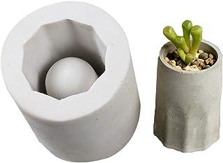 CactusAngui Gardening Mold Supplies Concrete Flower Pot Succulent Plants Planter Vase Silicone Mold Garden Decor - Grey