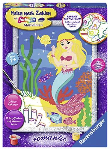 Ravensburger 27792 Kleine Meerjungfrau 27792-Kleine Malen nach Zahlen, Format 18 x 24 cm, Multicolor