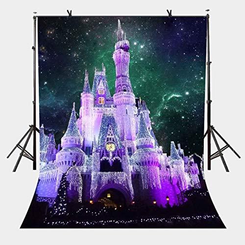BuEnn 5x7ft Traumschloss Kulisse Fantasy Starry Fairy Castle Fotografie Hintergrund Fotostudio Hintergrund Requisiten LYP046