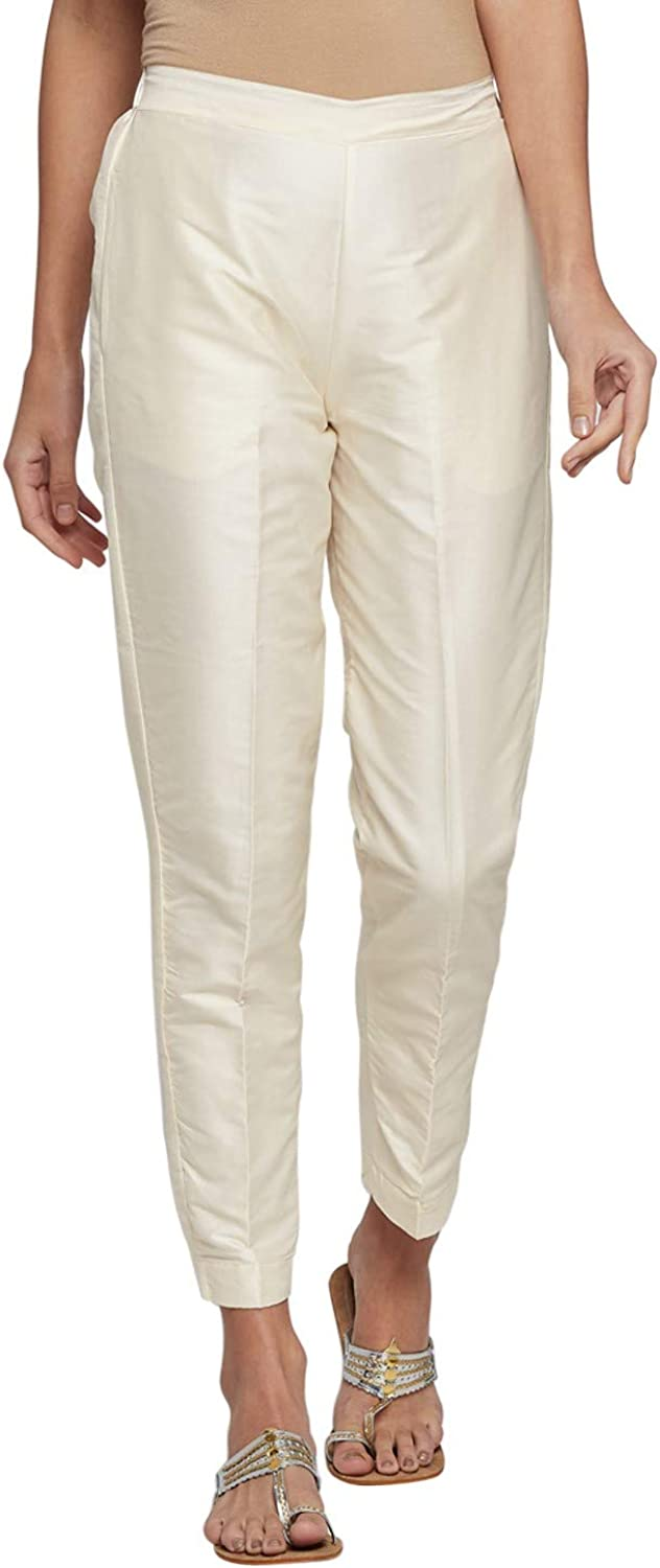 Silk Pant for Women, Casual Wear, Comfy Office Ponte, Slim, Skinny Solid Fit Pants | Silky Jazzy Trendy | Size- L to 3XL