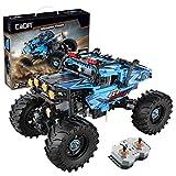 ReallyPow CADA Technik Auto, Monster LKW mit Fernbedienung, Motor & LED Licht, Off-Road Vehicle Auto Construction Kit Kompatibel mit Lego Technic - 699 Teilen