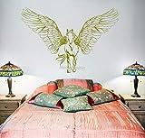 fancjj Neue Horse Wings Wandtattoos Vinyl Wandtattoos für