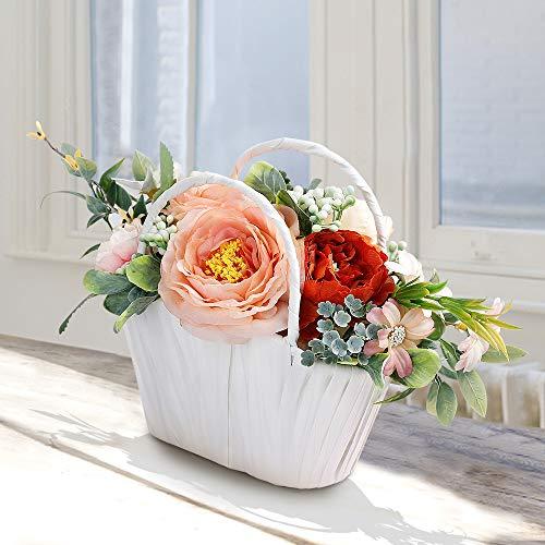 Ramo de peonías artificiales Flores Artificiales Decoración Jarrones Plantas Artificiales Maceta para El Hogar Oficina…