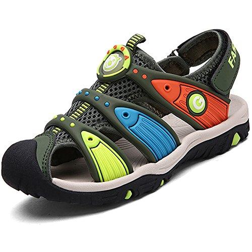 SAGUARO Sandales Enfant Summer Bout Fermé Respirantes Outdoor Plage Sports Sandales Fille Chaussures Randonnée Vert 29 EU
