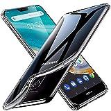 tomaxx Schutzhülle für Nokia 7.1 Hülle Silikon Durchsichtig transparent