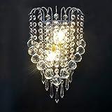 Lampada a Muro Applique Moderna in Cristallo E14 Applique da Parete per la Casa per il Ristorante del Corridoio Della Camera da Letto