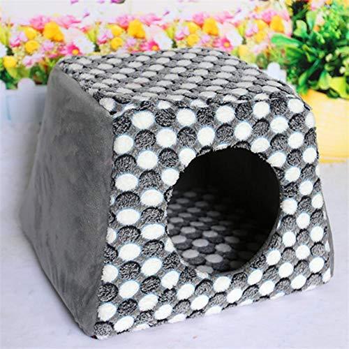 KDXBCAYKI Pet Supplies Warm kattentoilet voor huisdieren Heavy Duty Bed Top Pet Chaise Lounge Hoekbank, S, Grijs