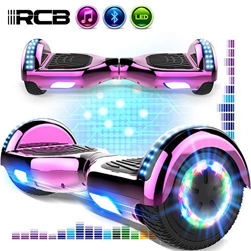 RCB Self Balance Scooter 6,5 Zoll Segway für Kinder und Jugendliche Balance Elektroroller mit Bluetooth Selbstausgleichendem Board mit leistungsstarkem Motor 700W Geschenk für Kinder