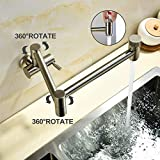 HYY-YY Mitigeur de cuisine pour évier de cuisine entièrement en cuivre monté au mur pour lave-vaisselle, eau chaude et froide