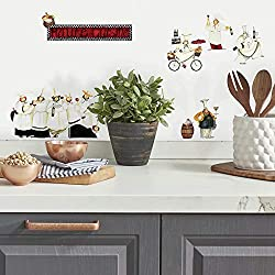 RoomMates RMK1255SCS Chefs Peel and Stick Wall Decals ,Multicolor , White