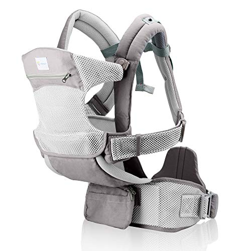 Baby Carrier for Men & Women –Baby Carrier New Born to Toddler - Infant Carrier –Baby Backpack Carrier-Toddler Carrier –Baby Hiking Backpack Carrier - Mesh (Light Gray )