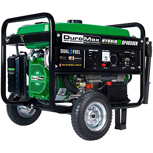 DuroMax XP4850EH Dual Fuel Portable Generator, Green