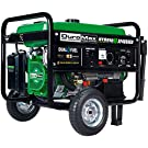 DuroMax XP4850EH Generator-4850 Watt Gas or Propane Powered-Electric Start-Camping & RV Ready, 50 State Approved Dual Fuel Portable Generator, Green