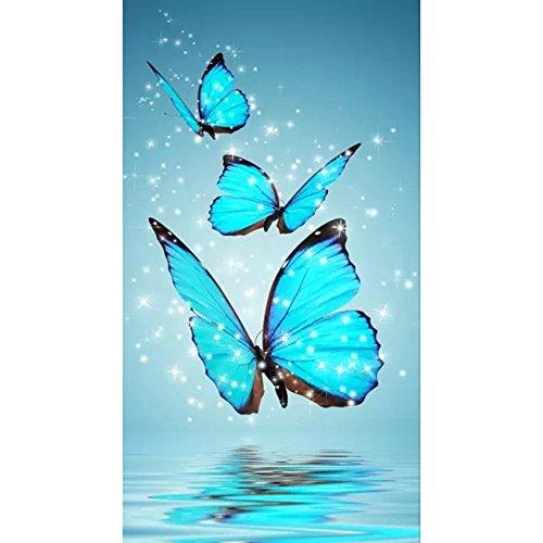 ZCGYL Papillon 5D Diamant Bricolage Broderie Peinture Cross Craft Point Home Décor Décoration Kit d'artisanat Mosaïque pour Travaux d'aiguille
