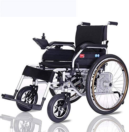 Espejo Silla de Ruedas eléctrica Plegable Plegable Power for sillas de Ruedas, Polymer Li-Ion (20A) - for los Ancianos y discapacitados para Viajes, Adultos, Ancianos.