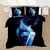 ZYNYHGS Michael Myers película Juego de Ropa de Cama con Funda nórdica para Adultos y jóvenes, impresión en 3D Suave y cómoda Funda nórdica Ropa de Cama Textiles para el hogar-D_150x200cm (2pcs)