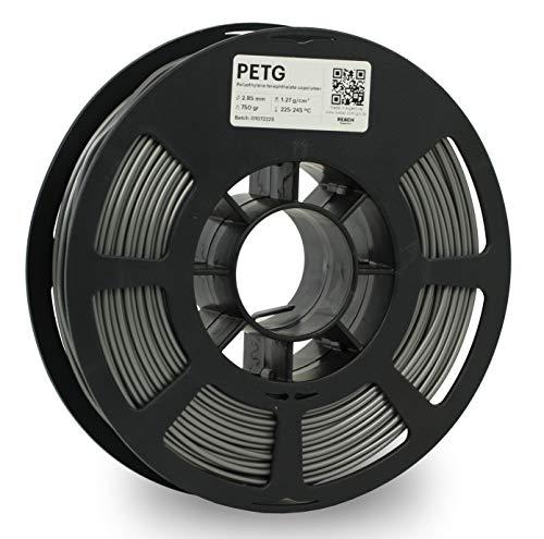 KODAK PETG Filament 2.85 mm mm für 3D- Drucker, Grau, Maßgenauigkeit +/- 0.03mm, 750g Spule, PETG Filament 2.85 als 3D-Drucker-Filament zum Nachfüllen von fast allen FDM-Druckern benutzt