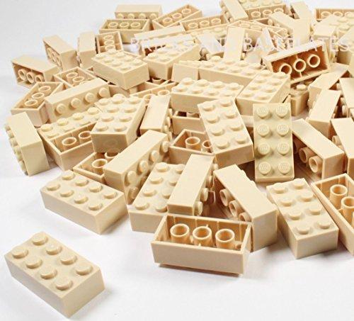 LEGO® Klocki: 100 x brązowe 2 x 4-pinowe numer części 3001 Wymiary (dł. x szer. x wys.) : 1,6 cm x 3,2 cm x 1,1 cm darmowe przesyłka w Wielkiej Brytanii Pobieranie z zestawów Dostarczane w opakowaniu uszczelnionym z cegłami i podstawowymi