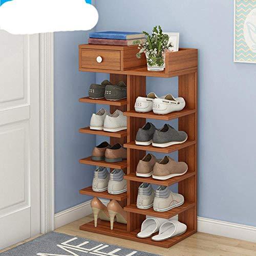 Zapatero de doble hilera o muebles de madera para el hogar para sala de estar Zapatero con caj¨n-7