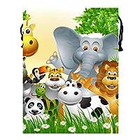 森林動物 (2) トラベル収納バッグド多機能スポーツバッグ ジムバッグ 巾着 バッグ シューズ ケース 乾湿分離ポータブルい 巾着ポケット 収納袋