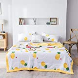 Funda de edredón Quilt 1,5 Tog Lightweight de verano fresco, microfibra anti Allergy lavable para lanzamientos sofá silla de cama Throw 028 (color: D, tamaño doble)