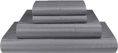 Luxor Linen 1000TC Ultra Soft Microfibre Sheet Set (1000TC-MIC-1CM-SS-KS-GRY), Grey, King Single