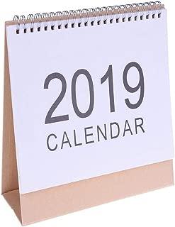 McDoo! 2019 Calendar Desktop Paper Calendar DIY Table Stand Agenda 2019 Planner Daily Scheduler, Vertical