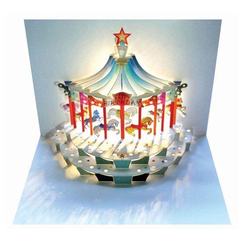 Forever Handmade GP096 Carte d'anniversaire pop-up élégante avec effet étonnant lors de l'ouverture