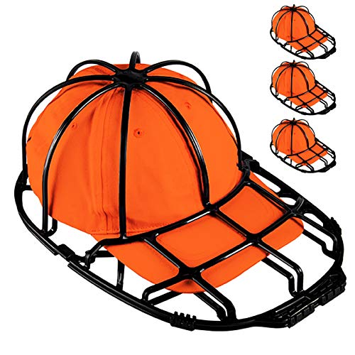 Der Rose 3 Pack Hat Washer Baseball Cap Cleaner Cap Washer Hat Washing Cage Holder Frame for Washing Machine