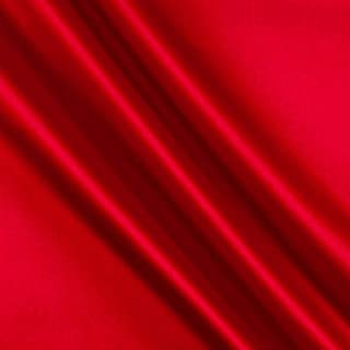 Ben Textiles Stretch L 'Amour Satin Fabric by The Yard, Red
