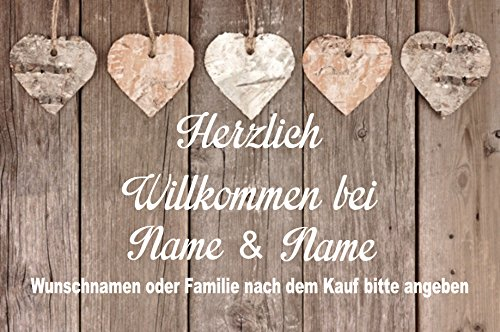 Creativ Deluxe Fussmatte m. Wunschnamen - Fussmatte Bedruckt Türmatte Innenmatte Schmutzmatte lustige Motivfussmatte