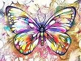 5D DIY diamante pintura mariposa completo rhinestone mosaico diamante bordado animal kit de punto de cruz decoración del hogar A1 45x60cm