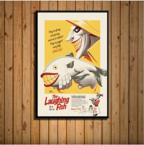 MONBAI Batman Joker Die Zeichentrickserie Dc Hot Superhelden Kunst Leinwand Malerei Poster Wand Wohnkultur 50 × 70Cm No Frame